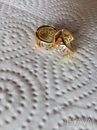 Сережки з медзолота круглі