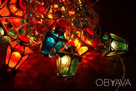 новогодняя гирлянда фонарики ссср
