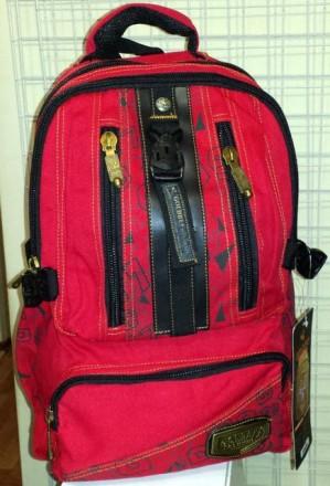 Школьный рюкзак для подростка Gold Be красный. Павлоград. фото 1
