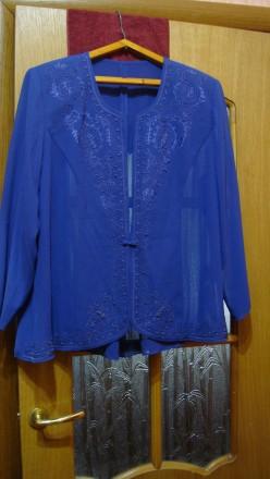 Продаю импортный новый весенне-летне-осенний женский нарядный костюм-двойку слив. Николаев, Николаевская область. фото 5