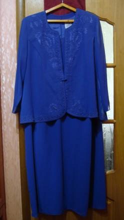 Продаю импортный новый весенне-летне-осенний женский нарядный костюм-двойку слив. Николаев, Николаевская область. фото 3