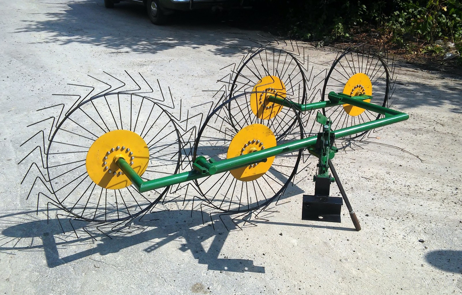 Трактор ворошилка схема