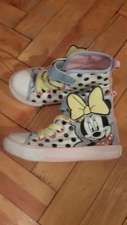 Кроссовки, кеды H&M Disney Minnie для девочки размер 25.. Запорожье. фото 1