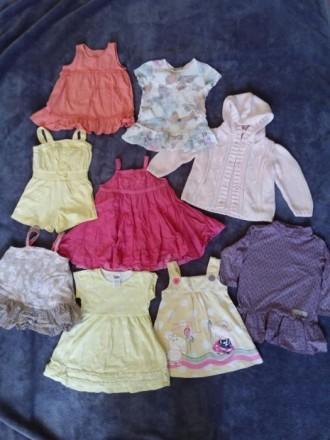 Вещи речі одяг пакетом (плаття, кофта, шорти), 1-1,5 роки. Житомир. фото 1