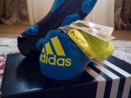 Продам новые бутсы (копочки) Adidas Адидас FG/AG X 15.2 кожа кенгуру оригинал! . Киев, Киевская область. фото 5