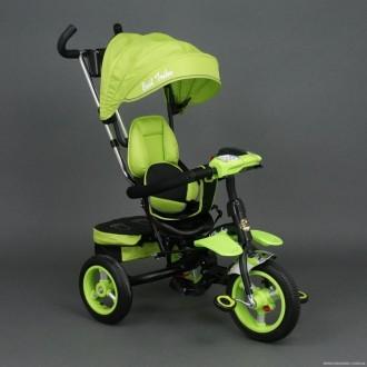 Детский трёхколёсный велосипед 6699 САЛАТОВЫЙ. Одеса. фото 1