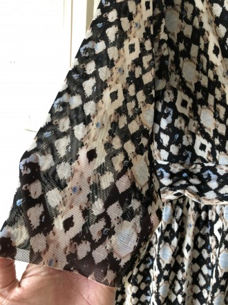 Повседневное платье из трикотажа сетка с подкладкой.На груди лиф с запахом.Рукав. Кривой Рог, Днепропетровская область. фото 5