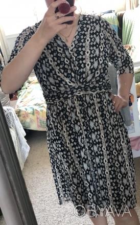 Повседневное платье из трикотажа сетка с подкладкой.На груди лиф с запахом.Рукав. Кривой Рог, Днепропетровская область. фото 1