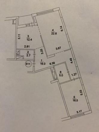 Продается 2х комнатная квартира в ЖК Парк Стоун Героев сталинграда 2Д, 9/23 этаж. Оболонь, Киев, Киевская область. фото 4