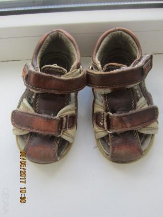 Продам кожаные босоножки для мальчика 21 размер, стелька 13 см.. Красноград. фото 1