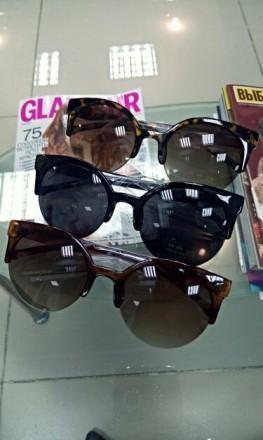 Очки женские солнцезащитные Кошачий взгляд + футляр в наличии. Днепр. фото 1