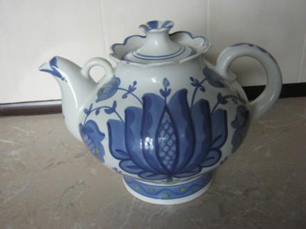 Чайник сувенирный Гжель. Днепр. фото 1