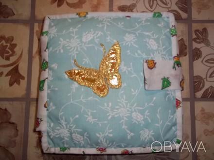 Развивающая книжка из фетра и ткани для детей  от 1 года до 5 лет.Изготовлена из. Александрия, Кировоградская область. фото 1