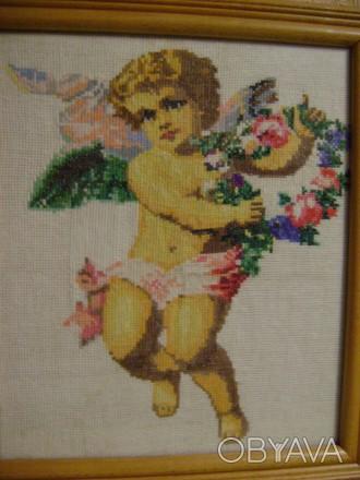 Ангел-вышивка крестом, нитки мулине. Александрия, Кировоградская область. фото 1