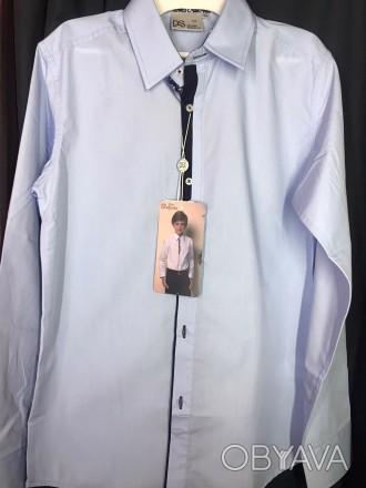 Сорочка для хлопчика блакитного кольору ТМ Deloras. Дана модель арт.С70712 з дов. Винница, Винницкая область. фото 1