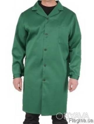 Халат рабочий Грета зеленый, мужской, спецодежда опт