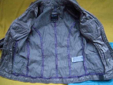 Фирменный стильный, очень красивый пиджак серого с отливом цвета ,р.128. В отлич. Пирятин, Полтавская область. фото 6
