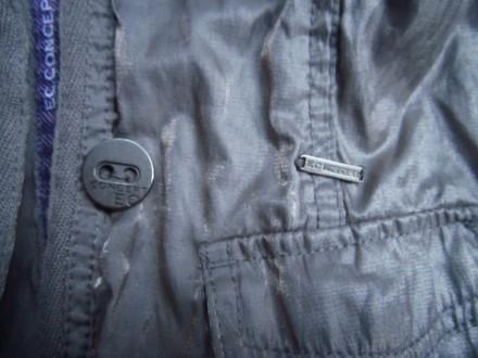 Фирменный стильный, очень красивый пиджак серого с отливом цвета ,р.128. В отлич. Пирятин, Полтавская область. фото 9