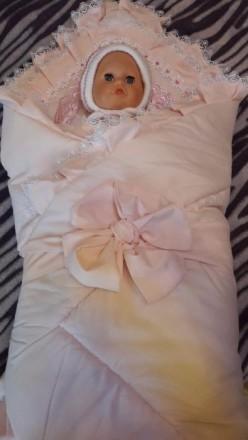 Конверт для новорожденного на овчине + теплая шапочка. Кривой Рог. фото 1