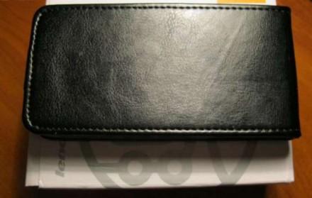 Чехол кожаный черный для Lenovo A390/HTC T328D. Харьков. фото 1