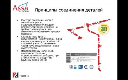 Якісні металеві водостоки Assa глибока ринва Польша. Киев. фото 1