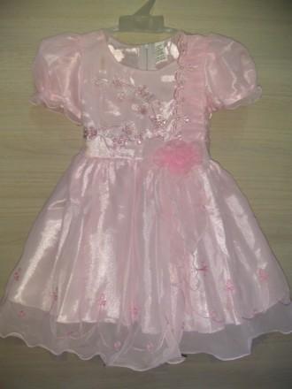 платье розовое на 4-5 лет. Днепр. фото 1