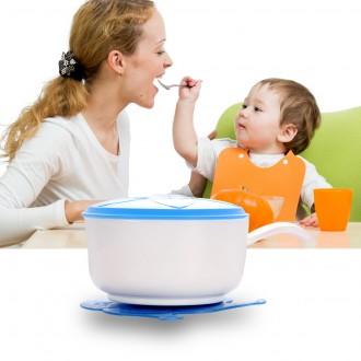 Детская тарелочка (с ручкой) на присоске. Кривой Рог. фото 1