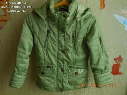 Куртка, курточка,ветровка для девочки 7-10 лет (б\у). Никополь. фото 1