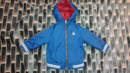 Двухстороннюю  курточку на мальчика United colors of Benetton,12 мес. Днепр. фото 1