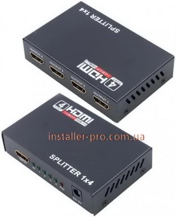 Сплиттер HDMI 1x4 распределяет источник HDMI на 4 таких же выхода при сохранении. Харьков, Харьковская область. фото 3
