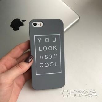 Тонкая пластиковая накладка , с приятным матовым покрытием Soft Touch для iPhone. Днепр, Днепропетровская область. фото 1