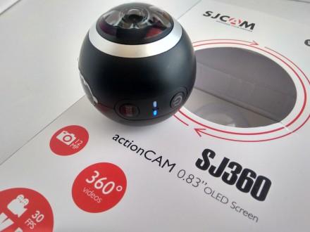 Экшн камера SJCAM SJ360 Панорамная VR 2К 360 градусов Новая! Наложка. Львов. фото 1