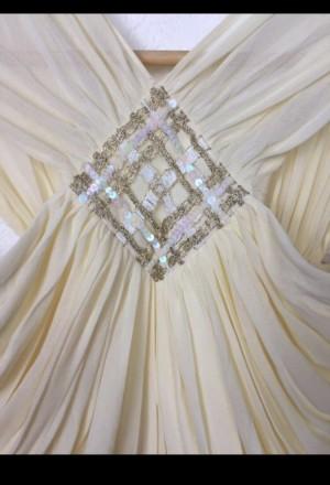 Очень красивое нарядное вечернее платье в пол. Материал - 80% триацетат, 20% пол. Киев, Киевская область. фото 9