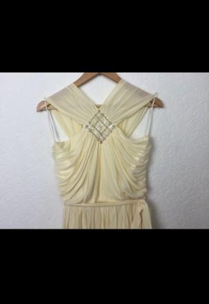 Очень красивое нарядное вечернее платье в пол. Материал - 80% триацетат, 20% пол. Киев, Киевская область. фото 3