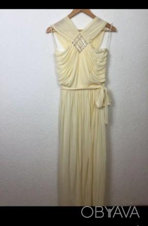 Очень красивое нарядное вечернее платье в пол. Материал - 80% триацетат, 20% пол. Киев, Киевская область. фото 1