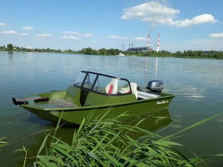 Лодка алюминиевая POWERBOAT PB420. Киев. фото 1