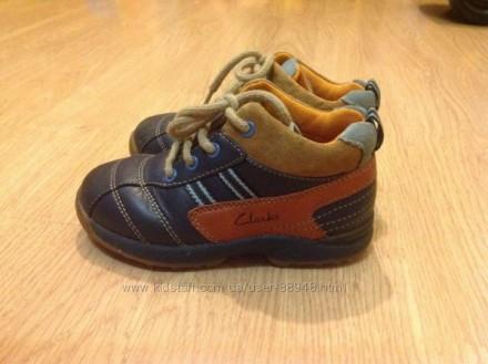 Демисезонные ботиночки Clarks 6, 5 G, 15,5 см. Чернігів. фото 1
