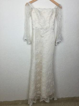 Безумно красивое кружевное свадебное платье на миниатюрную невесту, ручная работ. Киев, Киевская область. фото 2