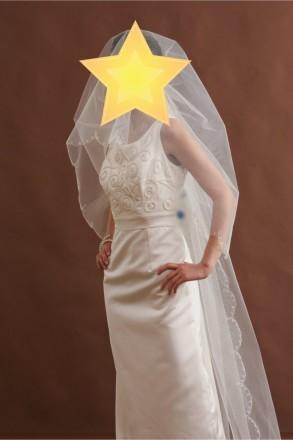 Безумно красивое свадебное платье со шлейфом. Цвет - айвори. Платье новое, испол. Киев, Киевская область. фото 4