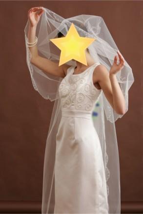 Безумно красивое свадебное платье со шлейфом. Цвет - айвори. Платье новое, испол. Киев, Киевская область. фото 5