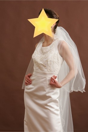 Безумно красивое свадебное платье со шлейфом. Цвет - айвори. Платье новое, испол. Киев, Киевская область. фото 3