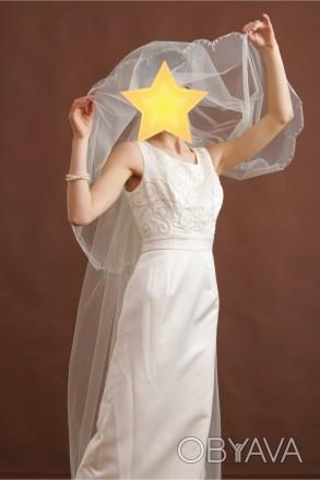 Безумно красивое свадебное платье со шлейфом. Цвет - айвори. Платье новое, испол. Киев, Киевская область. фото 1