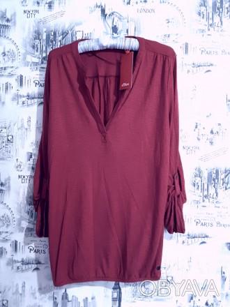 Прияная блузка от немецкого бренда S.Oliver вишнёвого цвета идеально дополнит Ва. Пирятин, Полтавская область. фото 1