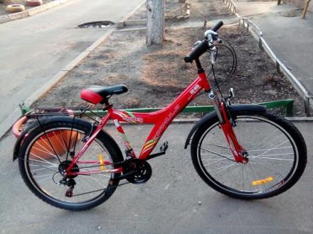 Универсальный городской велосипед с трансмиссей на 21 скорость, амортизацией и ф. Кривой Рог, Днепропетровская область. фото 2