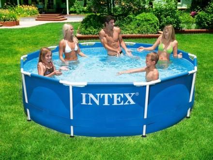 Каркасный круглый бассейн басейн METAL FRAME POOL Intex 28202. Днепр. фото 1