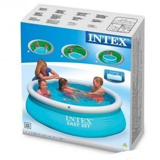 Надувной семейный бассейн Easy Set Intex 28101  ПроизводительIntex  Материал. Днепр, Днепропетровская область. фото 4