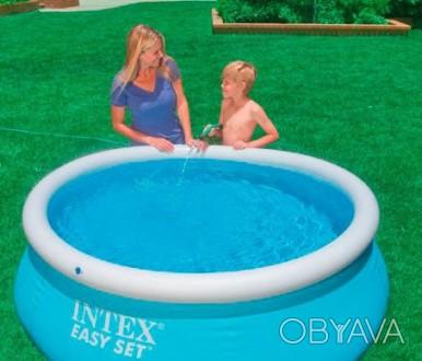 Надувной семейный бассейн Easy Set Intex 28101  ПроизводительIntex  Материал. Днепр, Днепропетровская область. фото 1