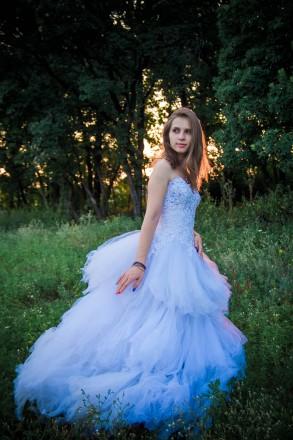 Продам шикарное свадебное платье(не на кольцах). Днепр. фото 1