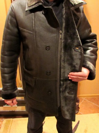 Мужская кожаная зимняя куртка р.48-50.Доставка бесплатная.. Николаев. фото 1