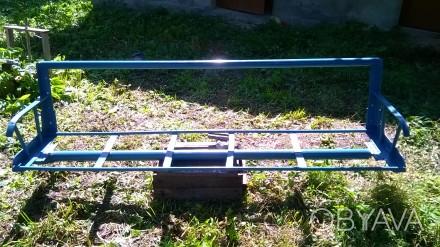 Продаю металеву лавку. Довжина 2м., ширина 42 см. Конструкція зроблена із угол. Тернополь, Тернопольская область. фото 1